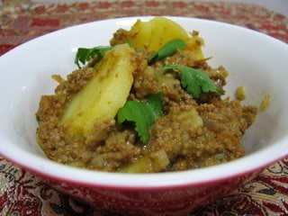 Minced Beef with POtato, Aalu Qeema