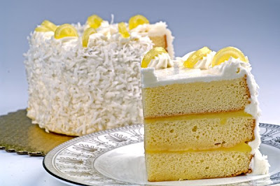 Lemon Cake, Lemon Sponge cake with lemon curd