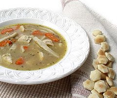 Chicken and vegetable soup, Chicken with egg noodle soup