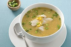 A view of Chicken corn soup