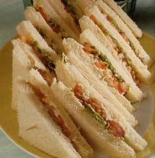 Chicken Spread Sandwich, chicken mayo sandwich