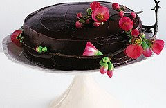 A view of fudge cake full of chocolate flavor