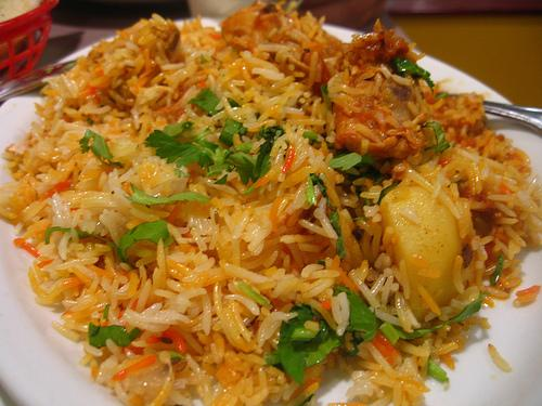 A view of Chicken Biryani