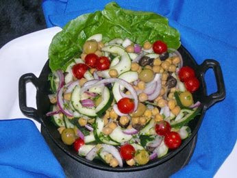 Vegetqable and chick Pea Salad