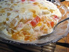 Fruit and Cream Delight (Lab-e-shirin) Recipe