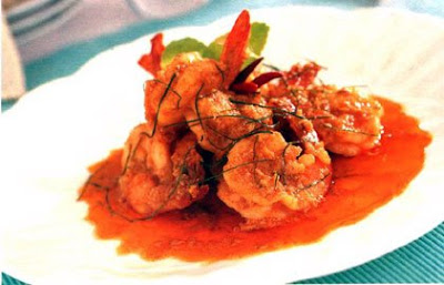 An attractive look of prepared Prawn Manchurian