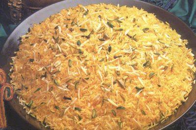 Sweet Brown Rice Recipe (Zarda):