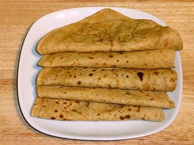 Paratha on a platter