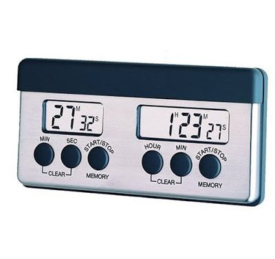 Kitchen Digital Timer > Amco Double Digital Timer