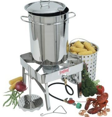 Stainless Steel Turkey Fryer – Outdoor Gas Fryer Complete Kit