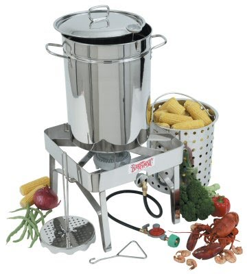 Stainless Steel Turkey Fryer – Outdoor Gas Fryer Complete Kit