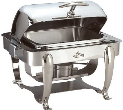 All Clad Chafing Dish – Roll Top Chafing Dish in Stainless Steel Finish