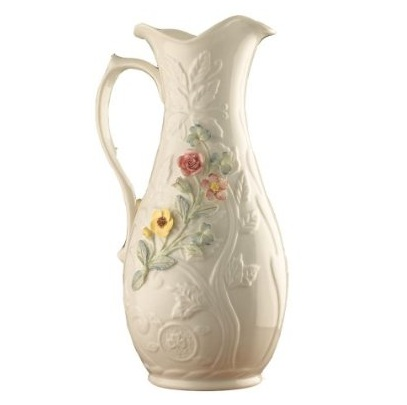 Belleek Pitcher – 10 Inch Ceramic Pitcher