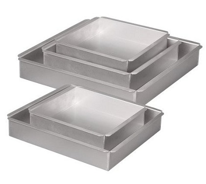 Square cake pan set of 5 pans