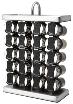 Black Spice Rack – Stainless Spice Rack For Counter Top