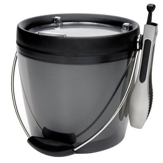 Plastic Ice Bucket with Tongs – OXO Good Grips Ice Bucket Set