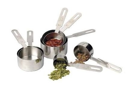 RSVP Stainless steel measuring cups 7 peice set