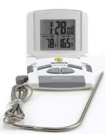 ThermoWorks Digital Probe Oven Thermometer – Cooking Timer Thermometer