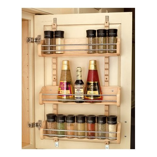 Door Spice Rack - Adjustable Shelves