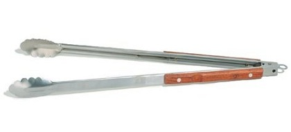 Long Stainless Steel BBQ Tong with Wooden Handle