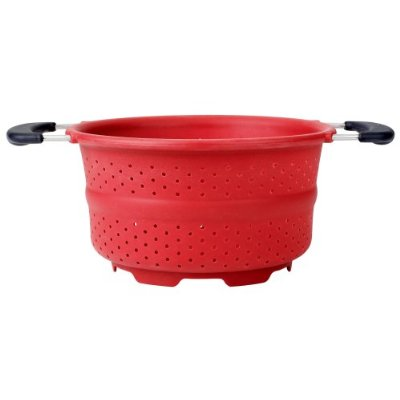 Oxo Collapsible Colander – Silicone Colander Red Color