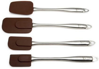Silicone Spatula Set – Stainless Steel Spatulas With Heat Resistant Silicone Heads by Tom Douglas