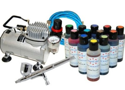 Cake Decoration Airbrush Kit – Starter Airbrush Kits With Air Compressor And Food Colors