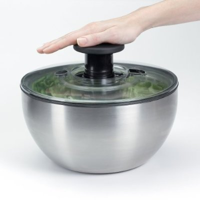 Oxo Stainless Steel Salad Spinner – Small Salad Spinner