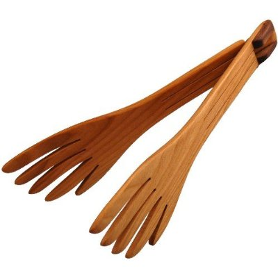 Wooden Salad Serving Fork – Folding Wooden Salad Fork in Cherry Wood