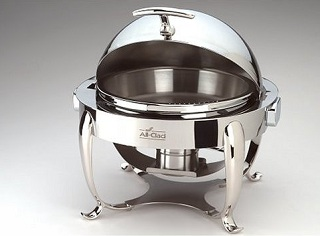 round stainless steel chafing dish