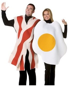 Bacon Egg Couples Costume Halloween