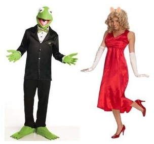 Couples Costumes Kermit Miss Piggy