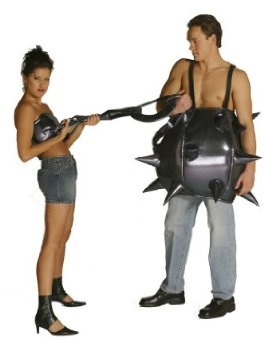 Funny Ball Chain Halloween Couples Costume
