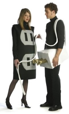 Funny Plug Socket Couple Costume