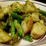 roasted potato and asparagus