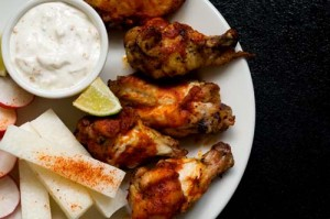 red-chile wings
