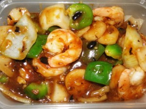 King Prawns with Beans Sauce