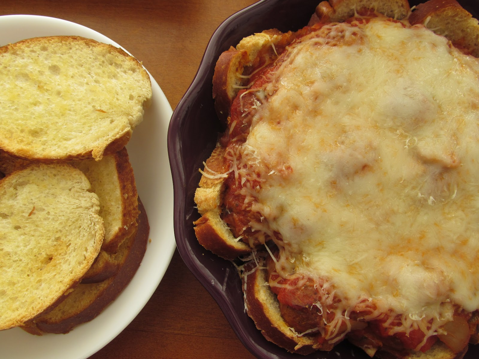 Meatball Casserole With French Bread