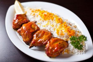 Saffron Chicken with Rice