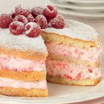 Genoise Cake with Raspberries