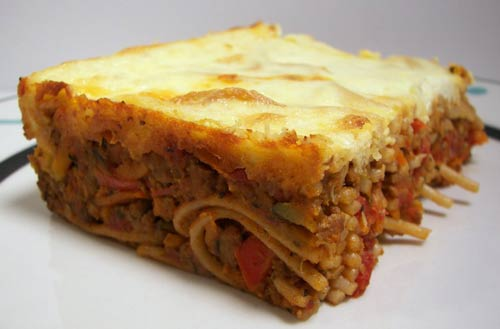 Chicken Spaghetti Cake Recipe